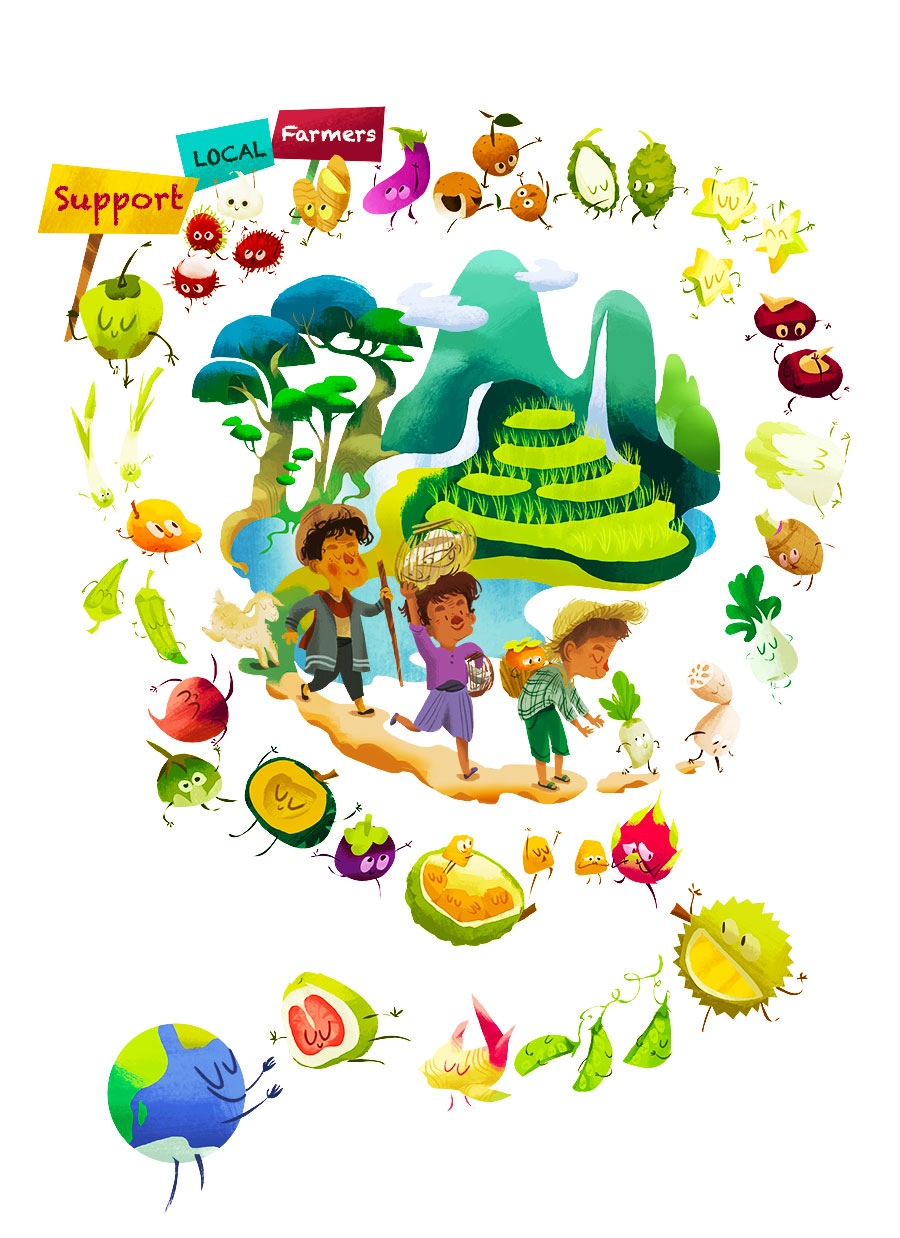 Illustration for FAO world's food day campaign